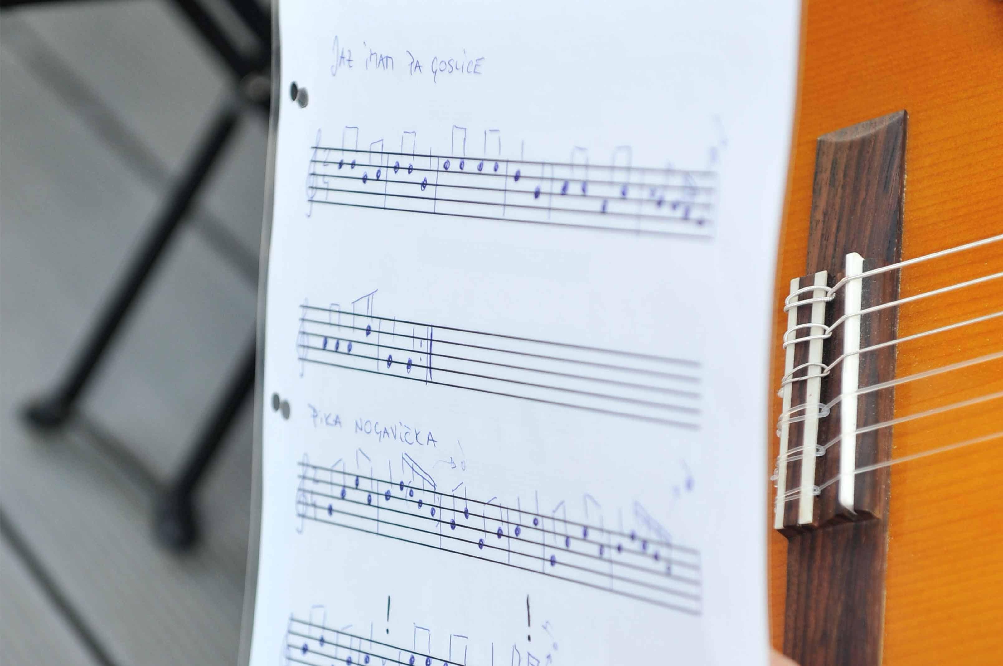 inštrumenti poučevanje glasbena šola