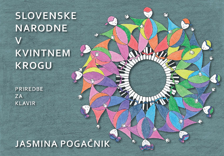 Knjiga slovenske narodne vkvintnem krogu priredbe klavir